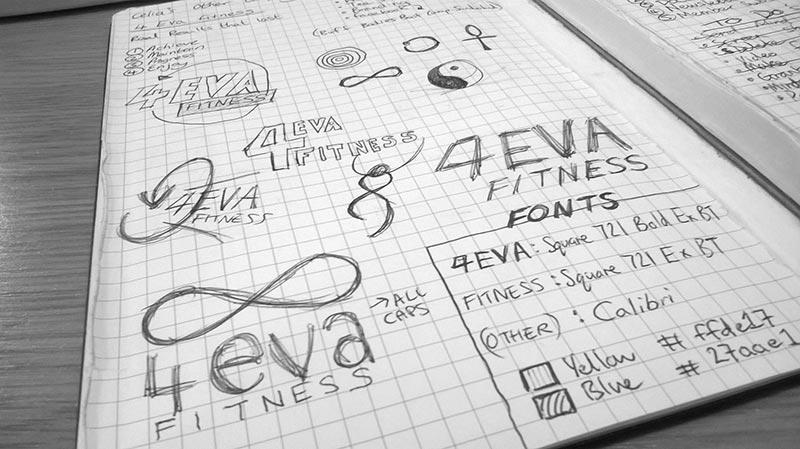 4EVA Fitness doodles